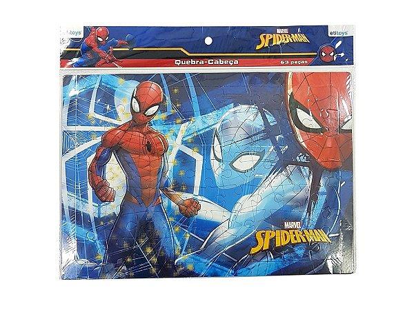 QUEBRA CABEÇAS 63PÇS ETITOYS DY-399 SPIDER-MAN