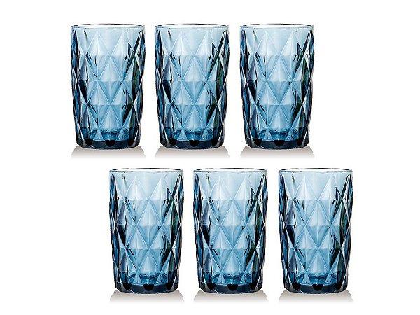 Conjunto 6 Copos Água 350ml Class Home Diamante