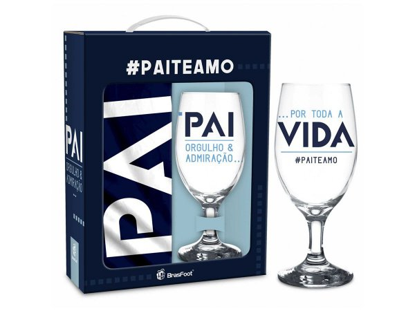 Conjunto Taça 330ml + Avental - Brasfoot