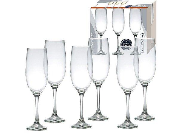 Conjunto Taça para Champagne One Vidro 200ml Ruvolo 6Pçs