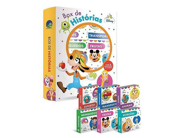 Livro Box De Historias Disney Baby - C/ 6 Mini Livrinhos