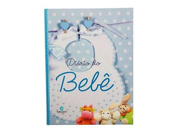 Diário Bebê Anotações Álbum Gestação Menino - Azul