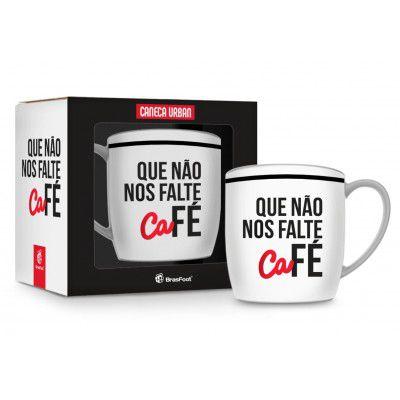 CANECA PORCELANA 360ML URBAN BRASFOOT - QUE NÃO FALTE CAFÉ