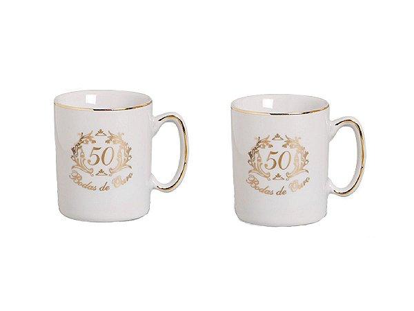 Conjunto Canecas Porcelanas c/ 2un Bodas