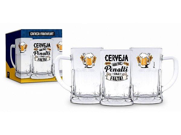 Caneca de Vidro 565ml Chopp Brasfoot - Cerveja Pênalti