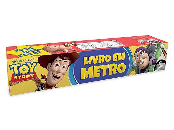 Livro Em Metro - Toy Story - Para Colorir Auto Adesivo