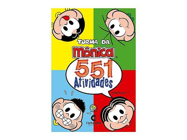 Livro Para Colorir Infantil 551 Atividades Turma da Mônica