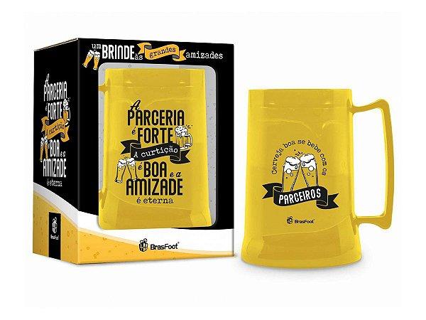 Caneca Gel 300ml Brasfoot - A parceria é Forte