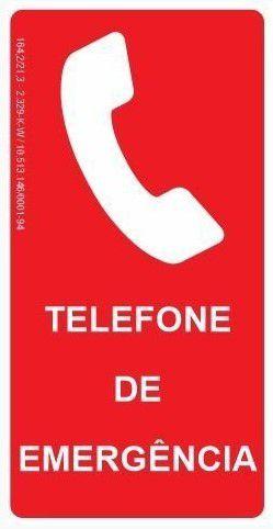 Placa Fotoluminescente - Telefone de Emergência