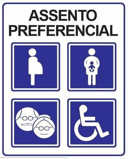 Placa Assento Preferencial - 30x20cm
