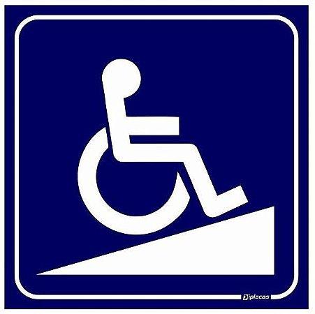 Placa Acesso para Deficientes