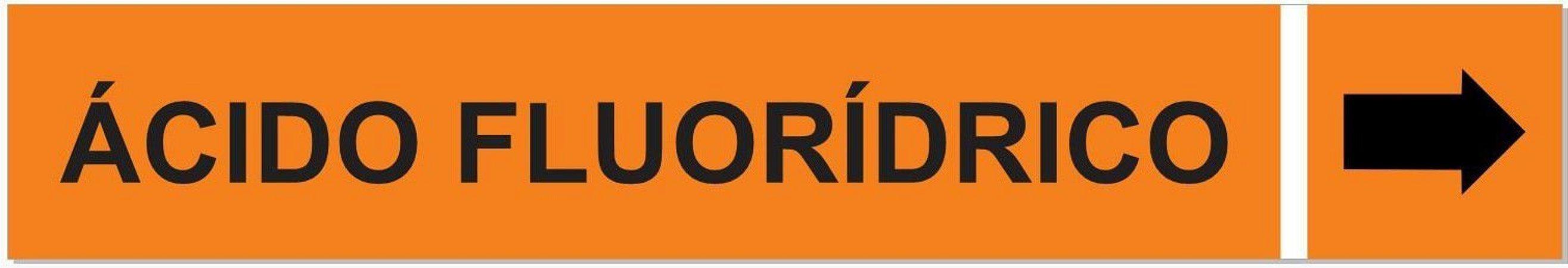 Etiqueta Adesiva Identificação de Tubulação Ácido Fluorídrico