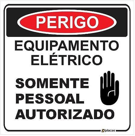 Etiqueta - Perigo - Equipamento Elétrico