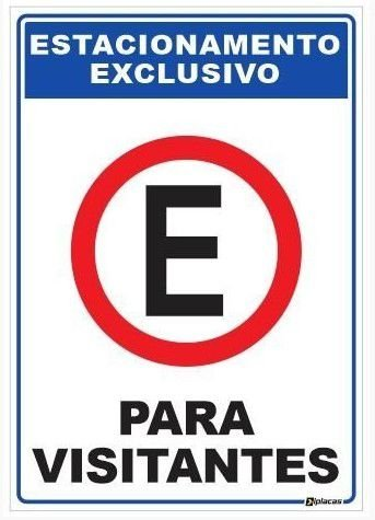 Placa Estacionamento Exclusivo para Visitantes