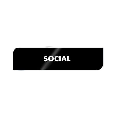 Placa Identificação - Social - Acrilico