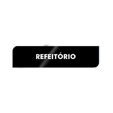 Placa Identificação - Refeitório - Acrilico