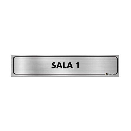 Placa Identificação - Sala 1 - Aluminio