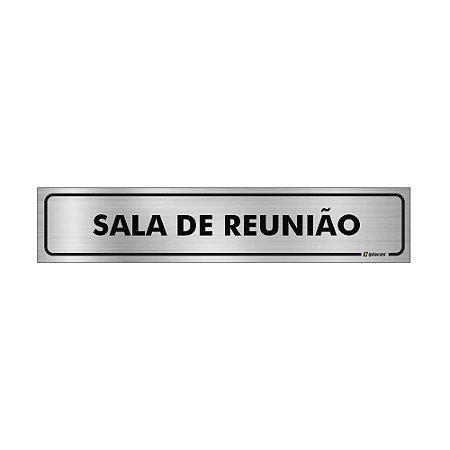 Placa Identificação - Sala de Reunião - Aluminio