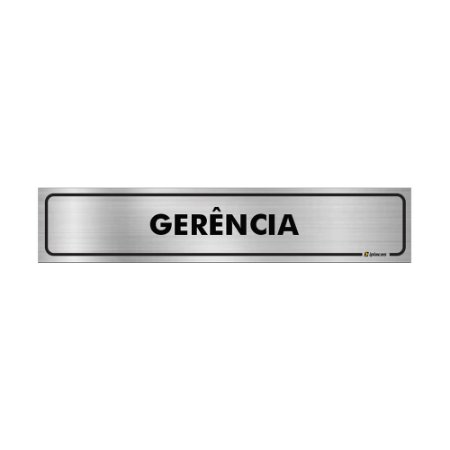 Placa Identificação - Gerência - Aluminio