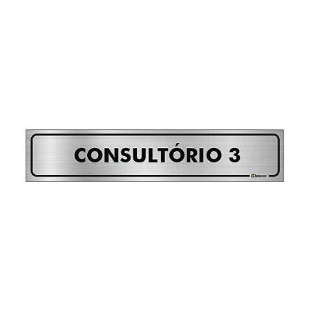 Placa Identificação - Consultorio 3 - Aluminio