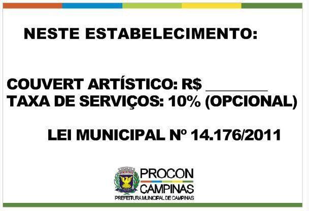Placa - Couvert Artístico - Lei Municipal 14.176/2011