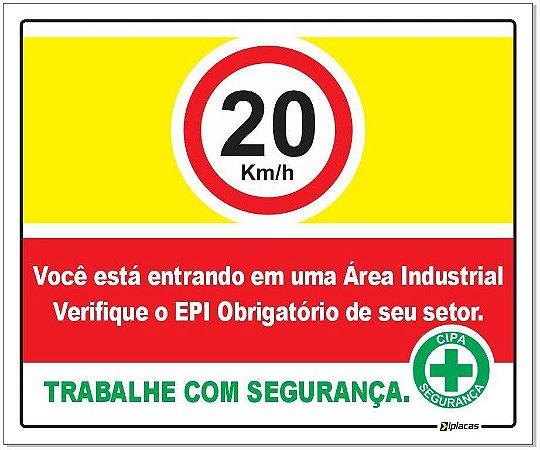 Placa - Velocidade - Área Industrial