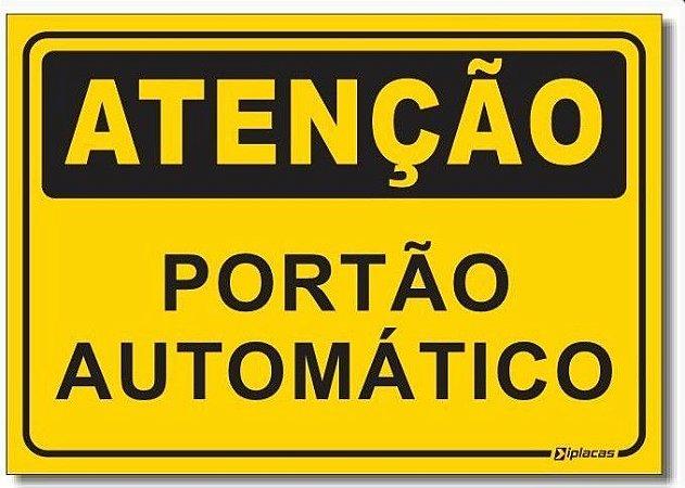 Atenção - Portão Automático