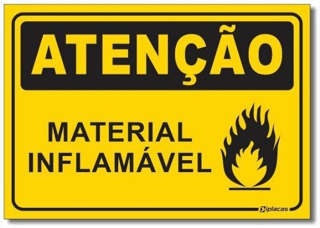 Atenção - Material Inflamável