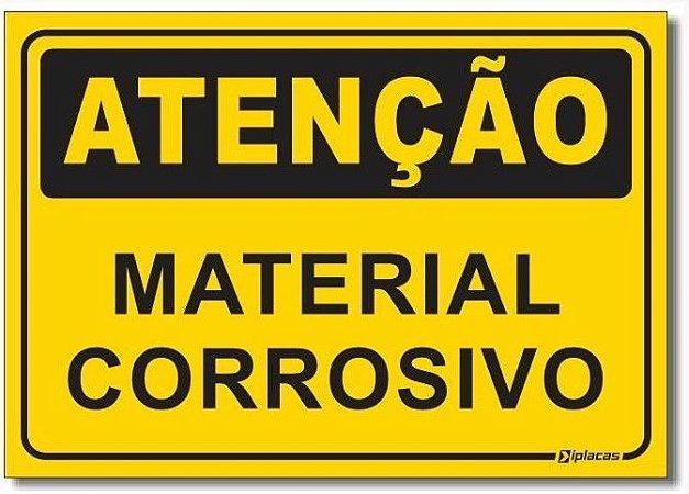 Atenção - Material Corrosivo