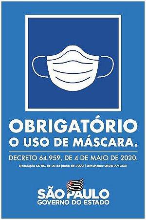 Obrigatório uso de Máscara - Decreto Estadual 64.959