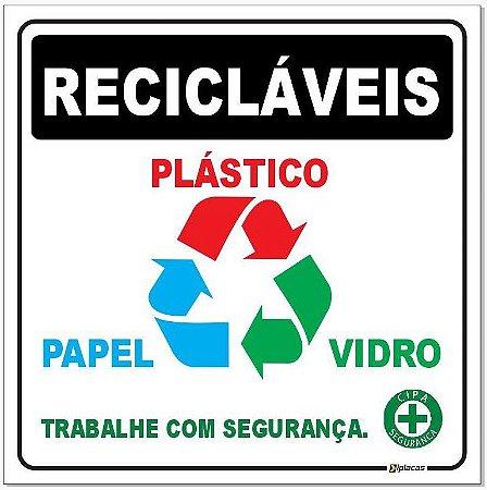 Placa - Recicláveis