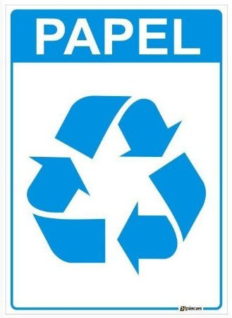 Placa Material Reciclável - Papel
