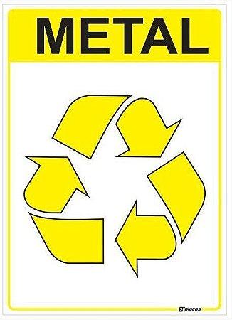 Placa Material Reciclável - Metal