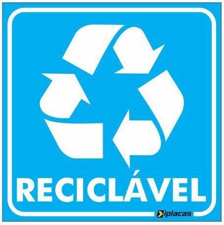 Placa de Sinalização - Reciclável