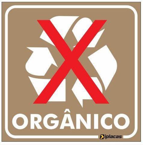 Placa de Sinalização - Orgânico