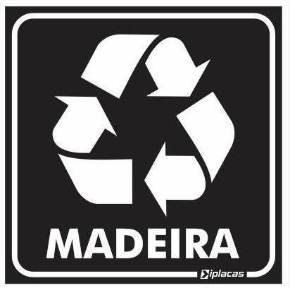 Placa de Sinalização - Madeira