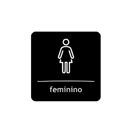 Placa Identificação - WC Feminino - Acrilico