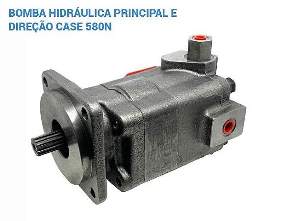Bomba Hidraulica Principal e Direção Case 580N