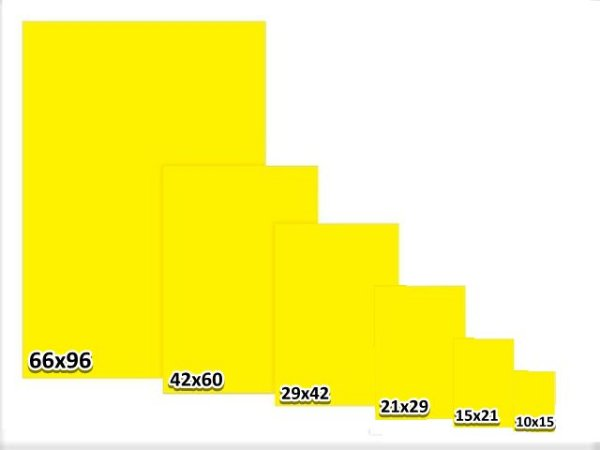 Cartaz Reutilizável 3G em PS Liso  Amarelo
