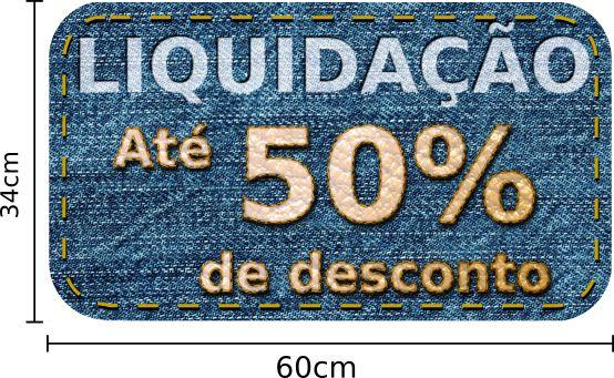 Adesivo de Vitrine Liquidação Até 50% de Desconto