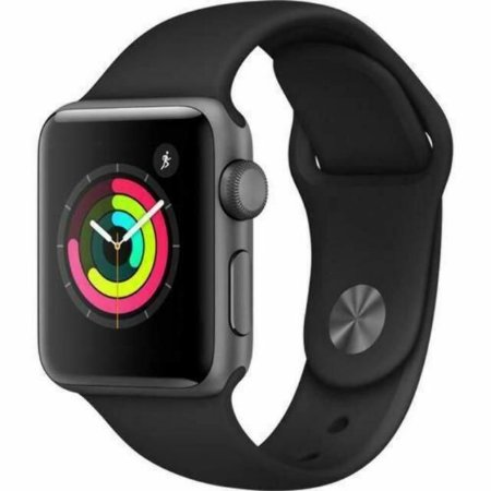 Apple Watch Series 3 38mm Space Gray Aluminum Case Black Sport Band