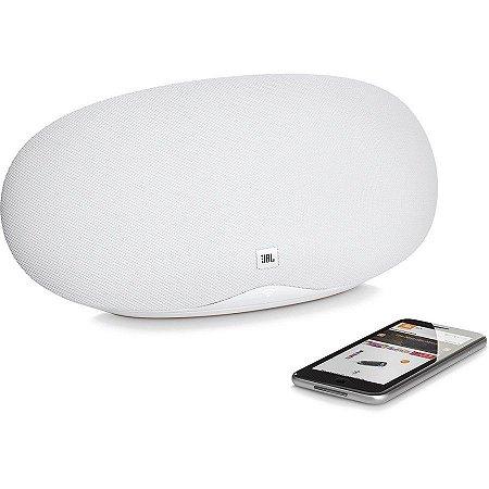 Caixa de Som JBL Playlist Bluetooth com Cromecast Integrado Branco