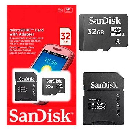 Cartão de Memória 32gb Micro Sd Adapter - Sandisk