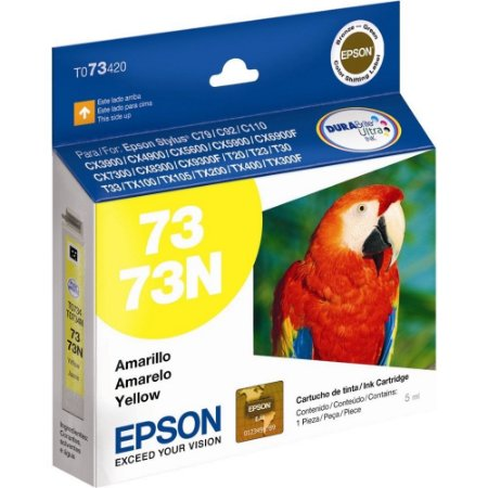 Cartucho de Tinta Epson 73 (To734) Amarelo 5ml