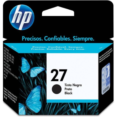 Cartucho de Tinta HP 27 (C8727) Preto 11ml