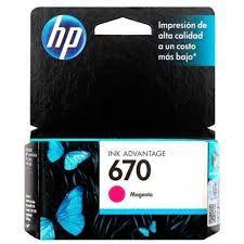 Cartucho de Tinta HP 670 (Cz115) Magenta 3,5ml