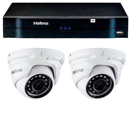 Kit 02 Câmeras IP HD 720p Intelbras VIP 1020 D + NVD 1204
