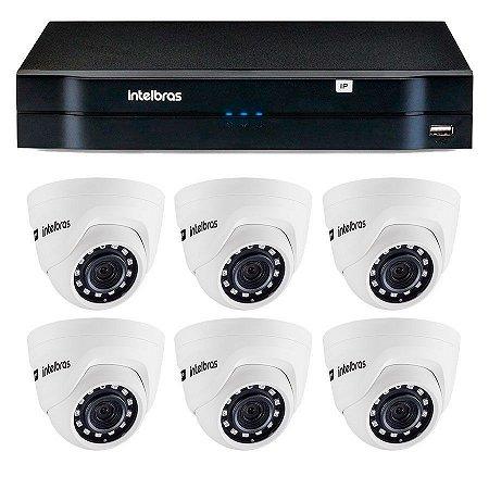 Kit 06 Câmeras IP HD 720p Intelbras VIP 1020 D + NVD 1208