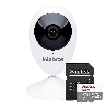 KIT 1 Câmera IP Wireless IC3 + 1 Cartão SD Ultra 32GB