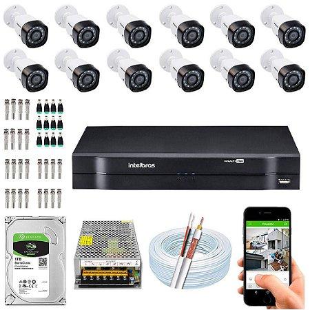 Kit Cftv Dvr + 12 Câmeras Vhd 1010 B G5 ( Com HD ) Intelbras